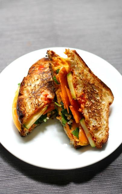 Gluten-Free & Vegan Harissa Grilled Cheese Sandwich