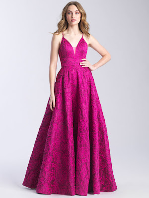 Sweetheart Prom Dress Madison James Fuchsia color