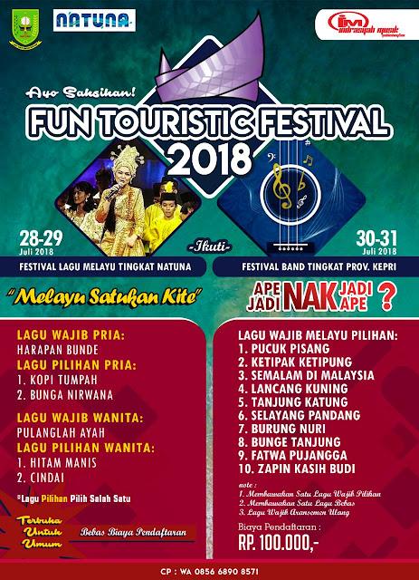 Natuna Tourism Fun Touristic Festival Song and Band 2018