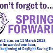 Tips To Handle Spring Forward - Daylight Savings