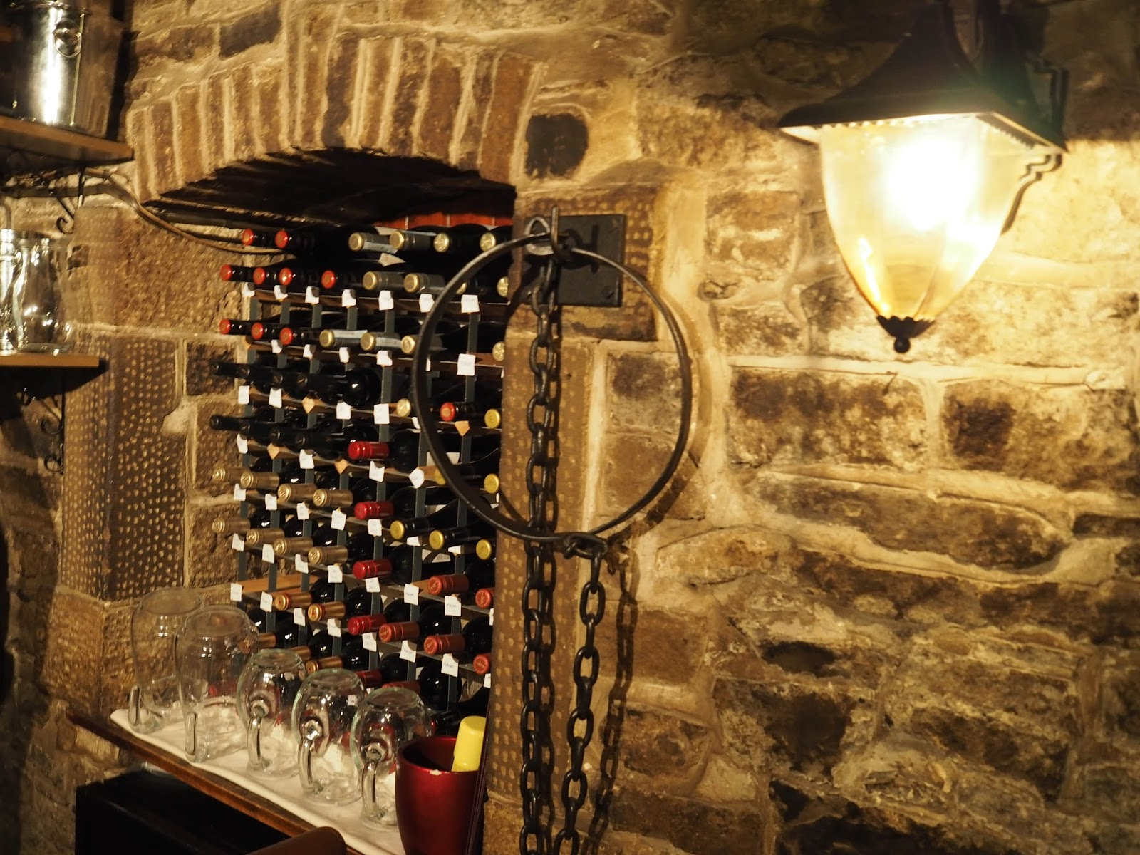 Le Caveau, excellent French restaurant in Skipton, North Yorkshire that used to be a prison