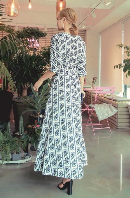 Slit Floral Maxi Dress