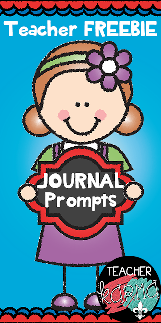 FREE Journal Prompts and Writing Checklist TeacherKARMA.com