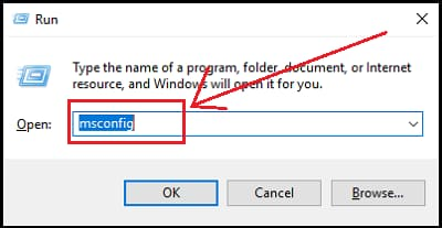 System configuration command in run