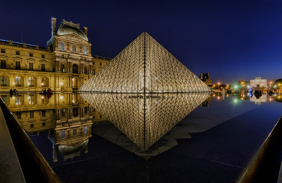 24. Louvre Pyramid by Night by Csilla Zelko