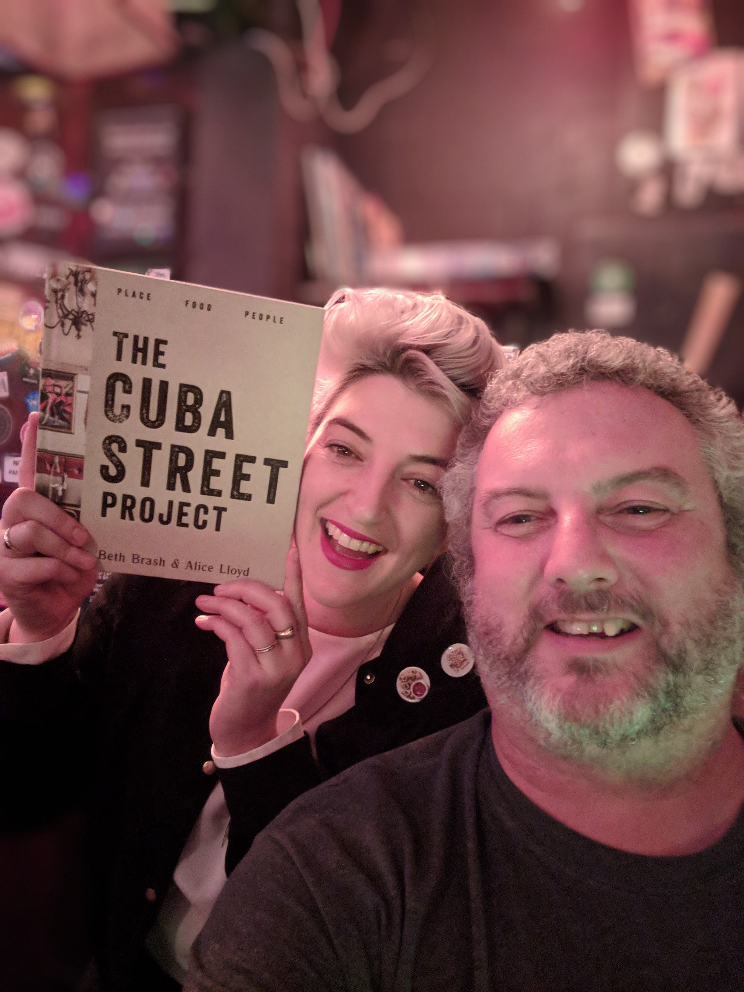 Beth Brash with her 'The Cuba Street Project' book