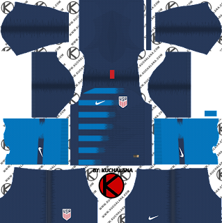 The United State USA 2018 World Cup Kit -  Dream League Soccer Kits