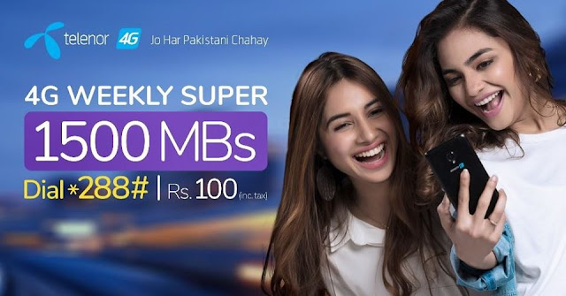 Telenor 4G Weekly Package Super