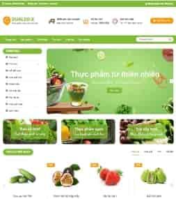 Template blogspot bán hàng trái cây rau quả