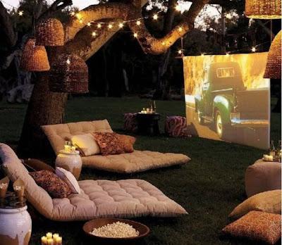 cine en el jardín