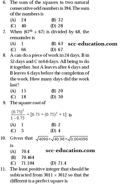 SSC Mathematics  sample Questions,previour year paper ,model test paper for ssc,ctet,scc,cgl,