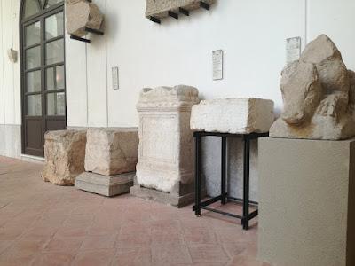 collocazione del cippo all'interno del Museo Salinas