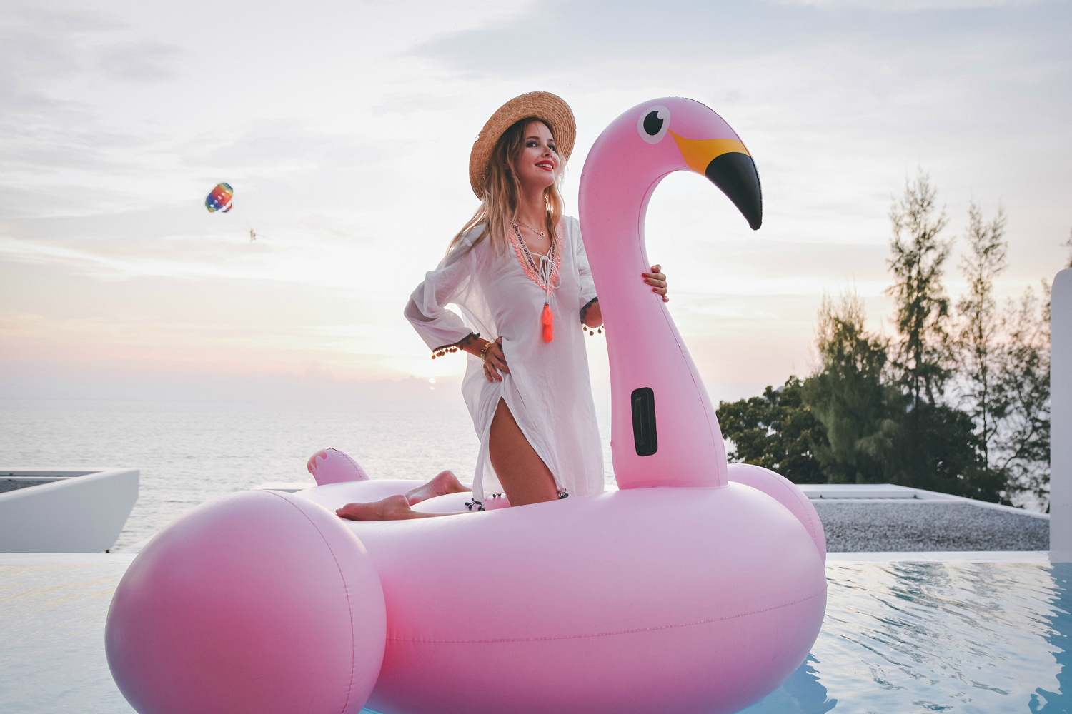 flamingo floatie