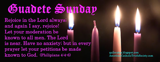 Gaudete Sunday - Rejoice in the Lord always!
