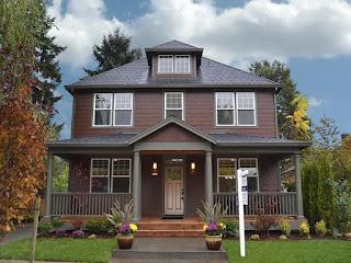 warna cat rumah minimalis dulux The Bistre House