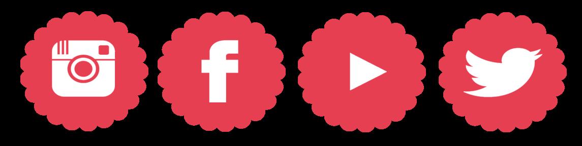 instagram, facebook, youtube, twitter