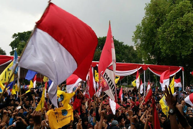 Ribuan Mahasiswa Indonesia Gelar Apel Kebangsaan