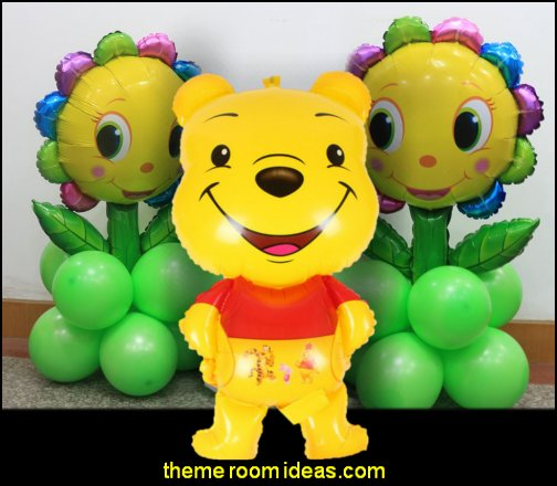 Winnie Bear Foil Balloons Happy birthday decorations   bee themed party - bumble bee decorations - Bumble Bee Party Supplies - bumble bee themed party - Pooh themed birthday party - spring themed party - bee themed party decorations - bee themed table decorations - winnie the pooh party decorations - Bumblebee Balloon -  bumble bee costumes