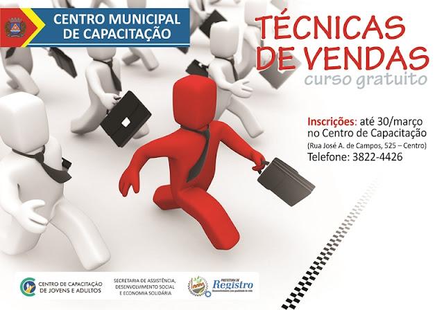 Centro Municipal de Capacitação de Registro-SP com as inscrições abertas para cursos de qualificação profissional