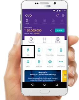 Cara mengisi token listrik lewat OVO
