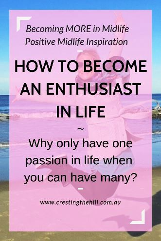 It's time to consider living life with enthusiasm rather than locking yourself into just one passion. #life #passion