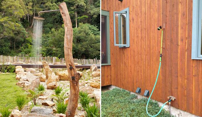 Marzua: Duchas de exterior para terraza y jardín
