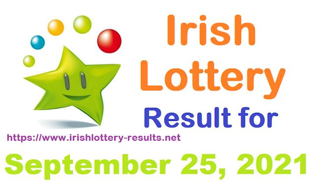 Irish lottery results for September 25, 2021