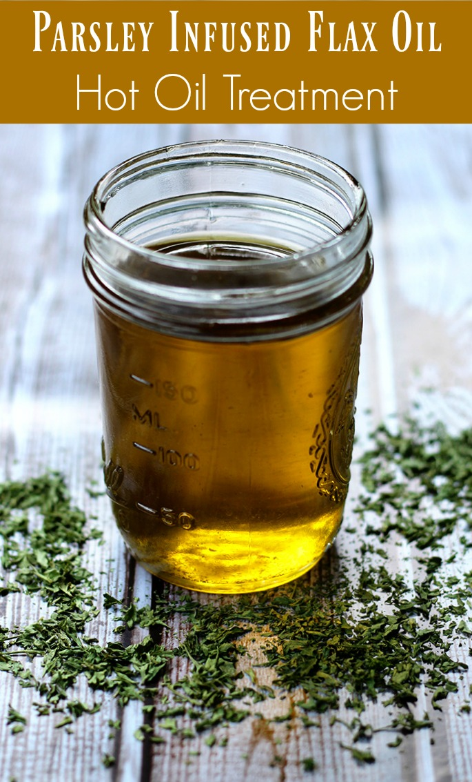 parsley infused flax oil hot oil treatment recipe