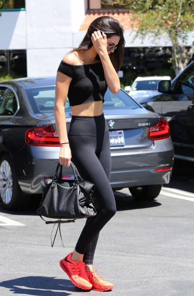Kendall Jenner Hot Pics in Black Tights