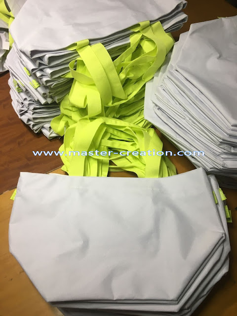 white poly shopping bag