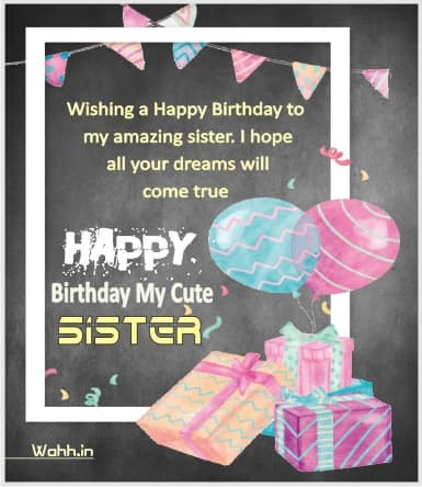Birthday Wishes For Sister With Quotes In Hindi