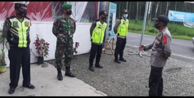 Pos Pam Pantau Ketupa Toba 2021 Dilakukan Personel Jajaran Kodim 0207/Simalungun Bersam Dinas Terkait