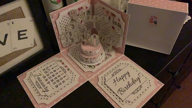 Bubu Box, Exploding Card, 30th Birthday,