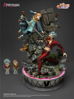 Ban VS King Elite Fandom Statue de Seven Deadly Sins de Figurama Collectors
