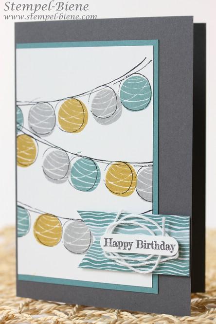 Geburtstagskarte für einen Mann, Stampin' Up Glück-s-wunsch, Stampin' Up Spruch-reif, Stampin' Up neue In Colors, Match the Sketch, Stampin Up Sammelbestellung