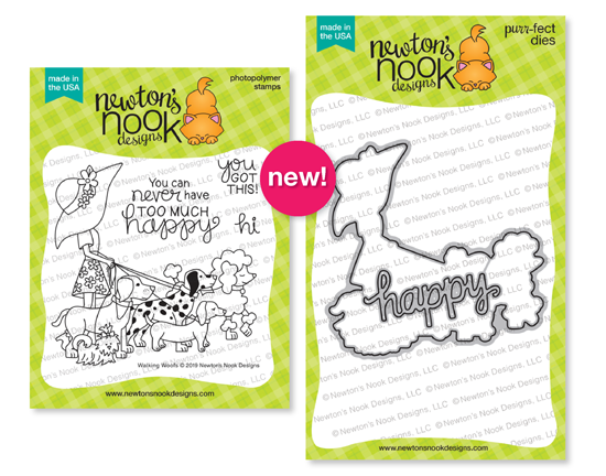 Walking Woofs | Dog Walker Stamp Set by Newton's Nook Designs #newtonsnook
