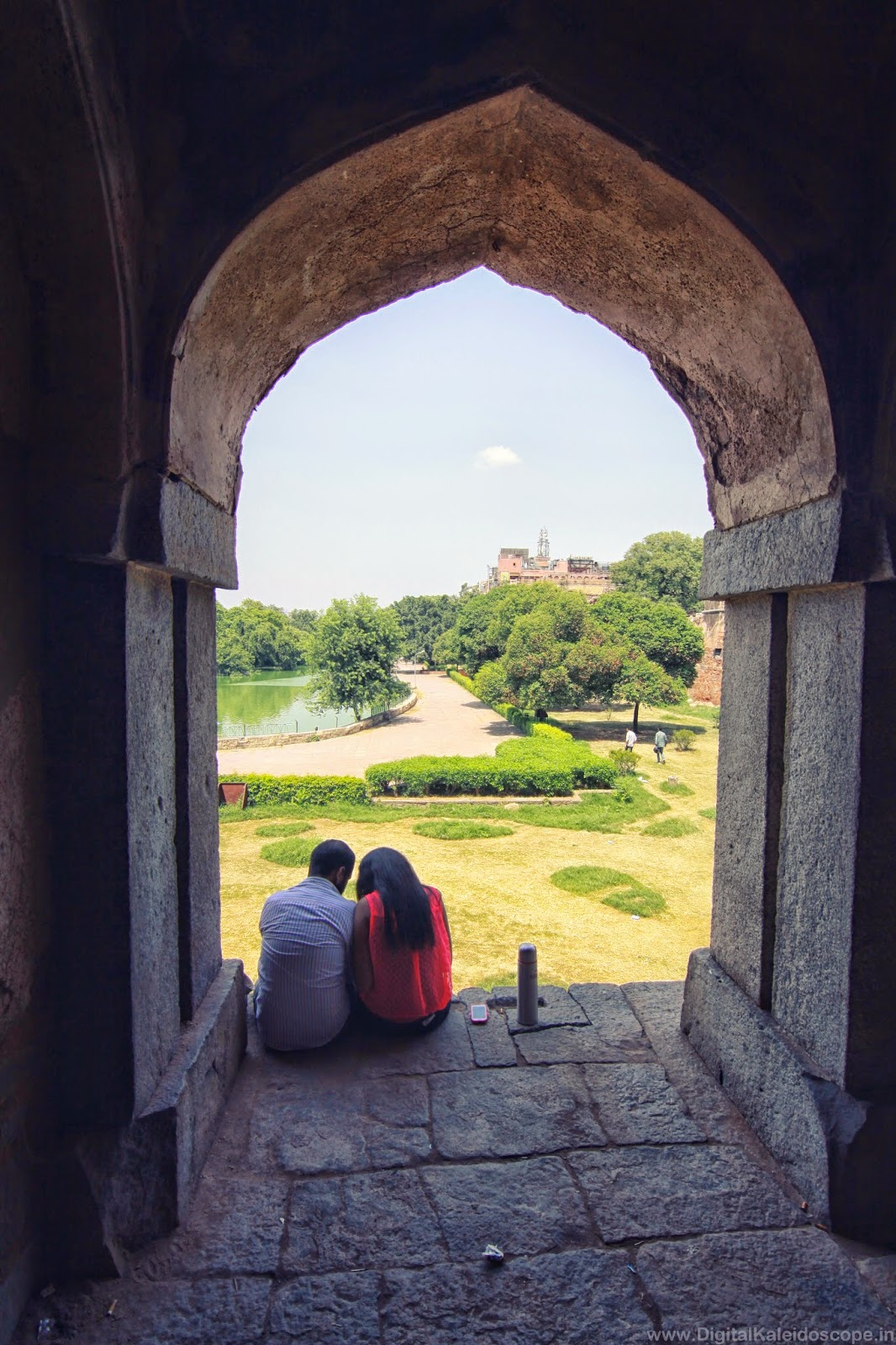 Lovers in hauz khas village