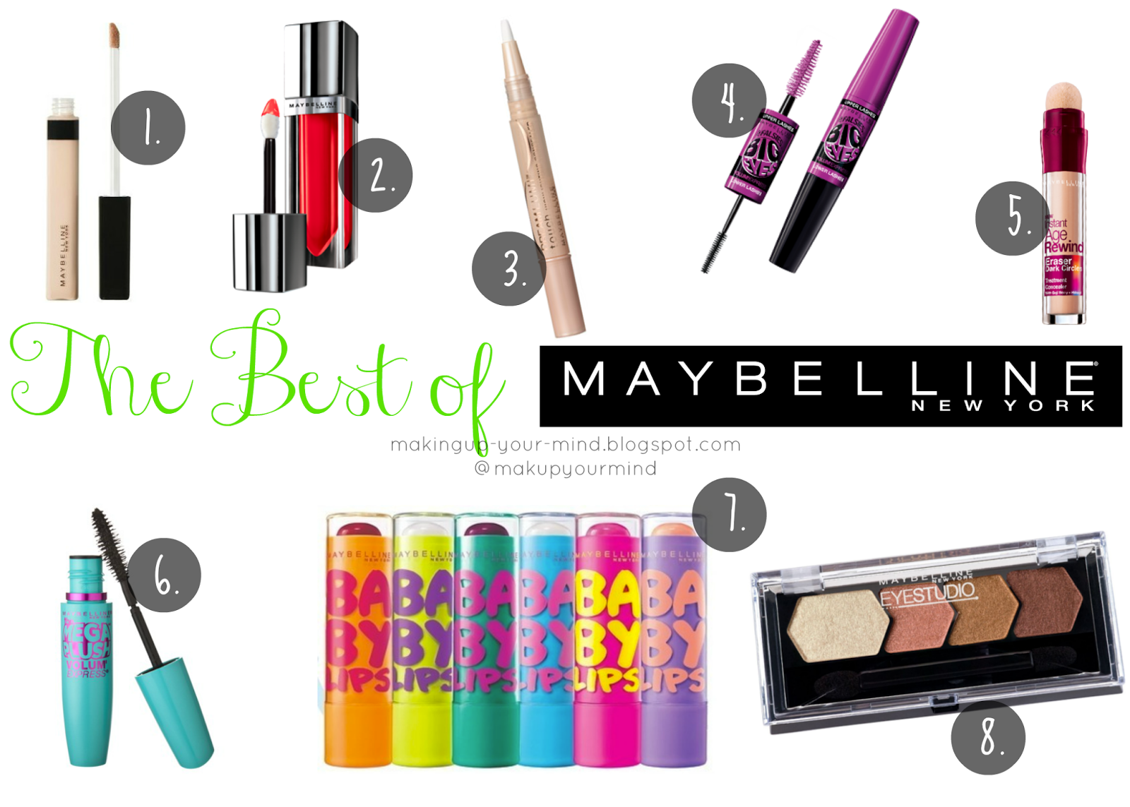 Drugstore Makeup Favorites: The Best of Maybelline