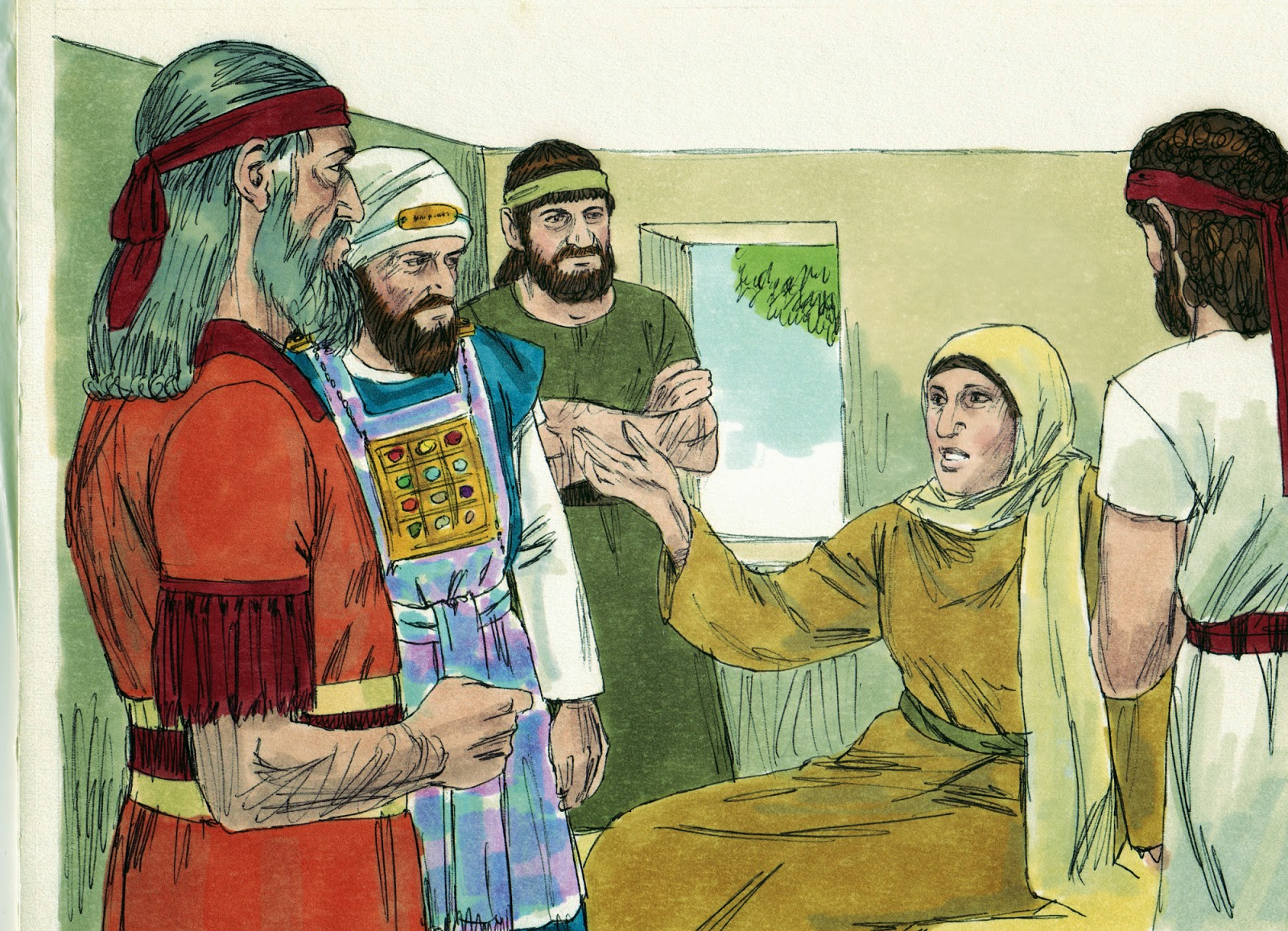 Hilkiah and Shaphan with two others enquired Huldah the prophetess.