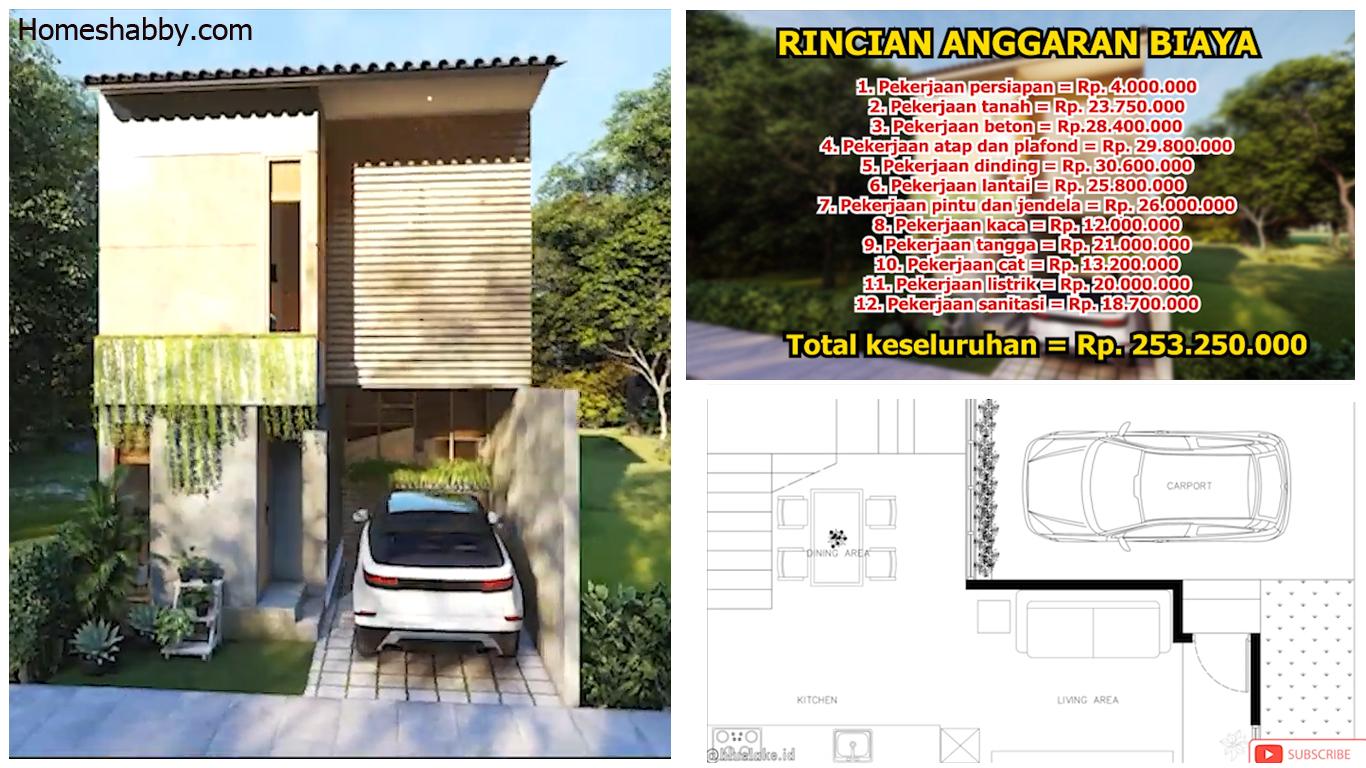 Desain Dan Denah Rumah Minimalis Ukuran 6 X 10 M Dengan Gaya Ala Drama Korea Lengkap Dengan Anggaran Biayanya Homeshabby Com Design Home Plans Home Decorating And Interior Design