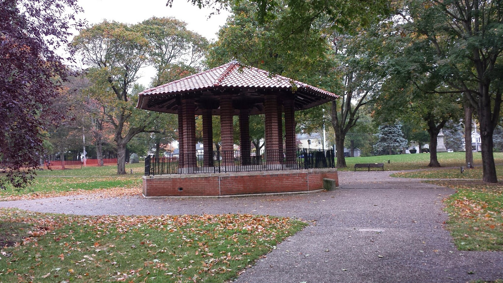 bandstand on the Franklin Town Common