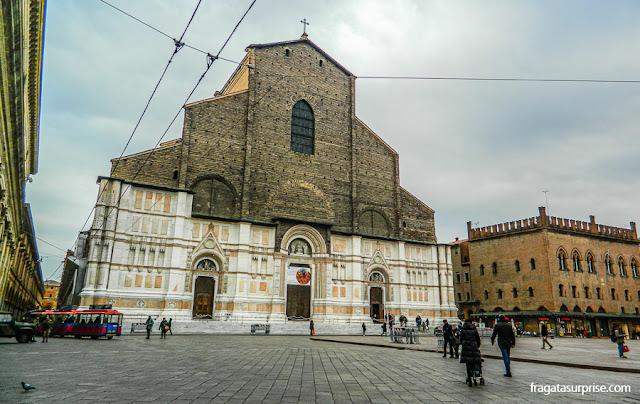 Basílica de São Petrônio, na Piazza Maggiore de Bolonha