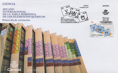 Sobre PDC del sello del año internacional de la tabla periódica