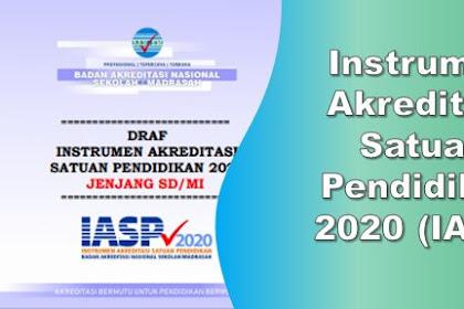 Download Instrumen Akreditasi Satuan Pendidikan 2020 ( IASP ) Jenjang SD/MI