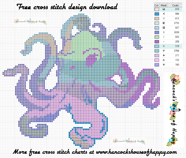 Tentacular Spectacular Week! Groovy Psychedelic Octopus Cross Stitch Design to Download for Free
