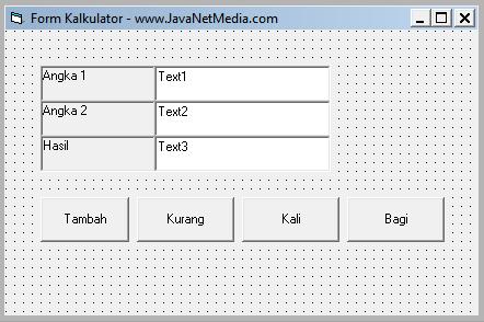 Membuat Kalkulator Sederhana Dengan VB 6.0