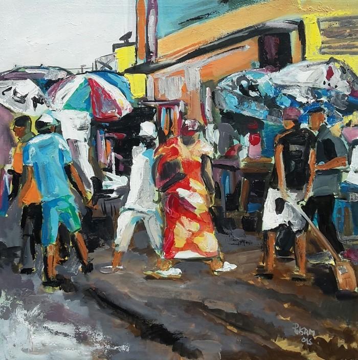 Камерунский художник.