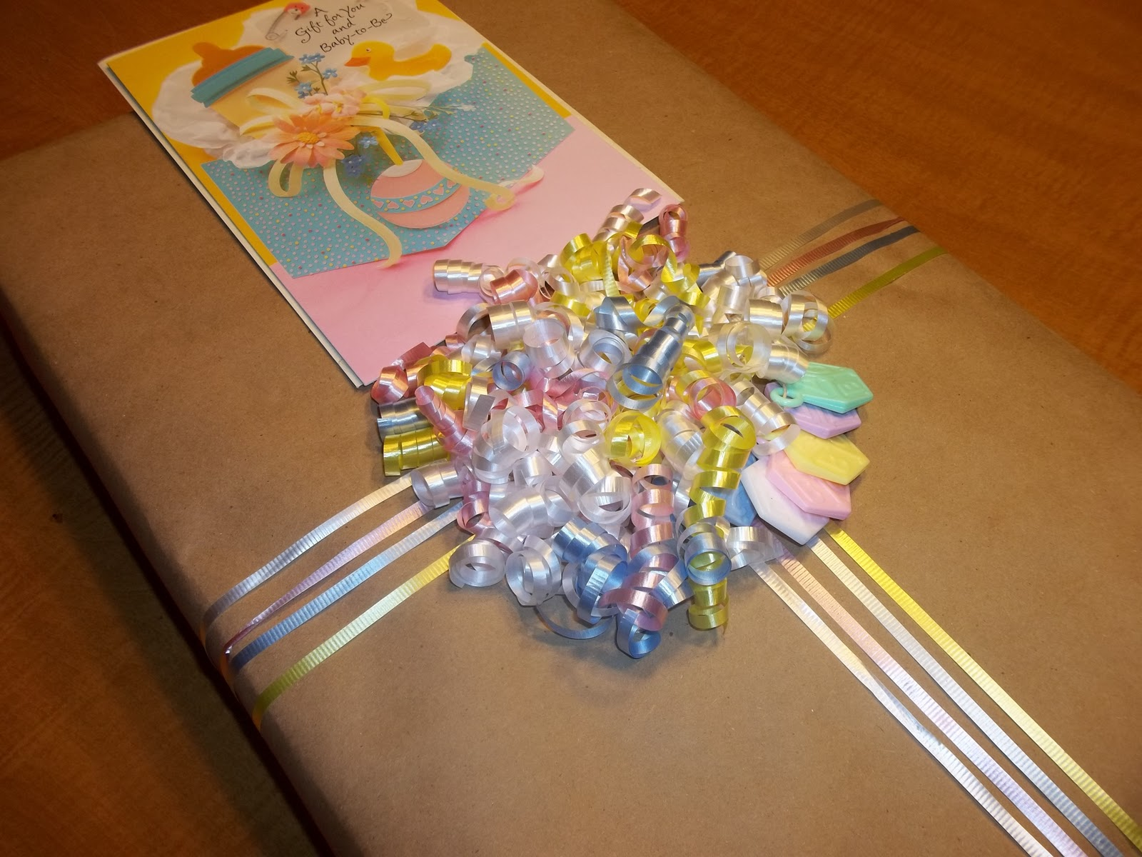 My Favorite Pieces: creative baby shower gift wrap
