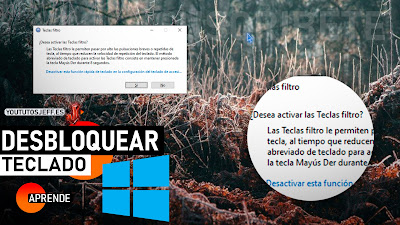 desbloquear teclado windows