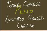 Three Cheese Pesto Avocado Grilled Cheese